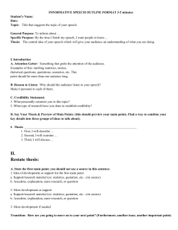 mla formatted outline template
