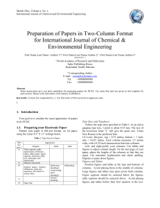 IJCEE Paper Template - World Academy of Research and Publication