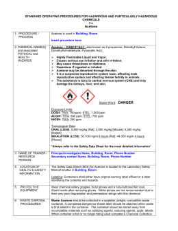 Acetone - WSU Environmental Health & Safety