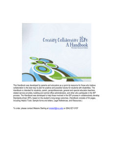 Creating Collaborative IEPs