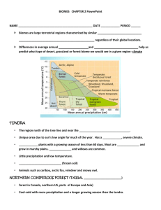 BIOMES CHAPTER 2 PowerPoint guided rdg