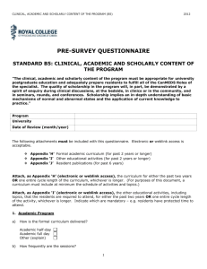 Anesthesia Questionnaire short version