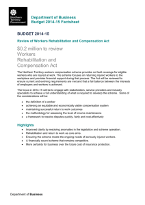 Review of Workers Rehabilitation and Compensation Act Factsheet