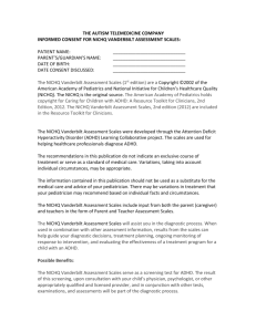 informed consent document - THE AUTISM TELEMEDICINE