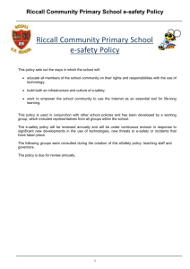 Scope of policy - Riccall Primary School