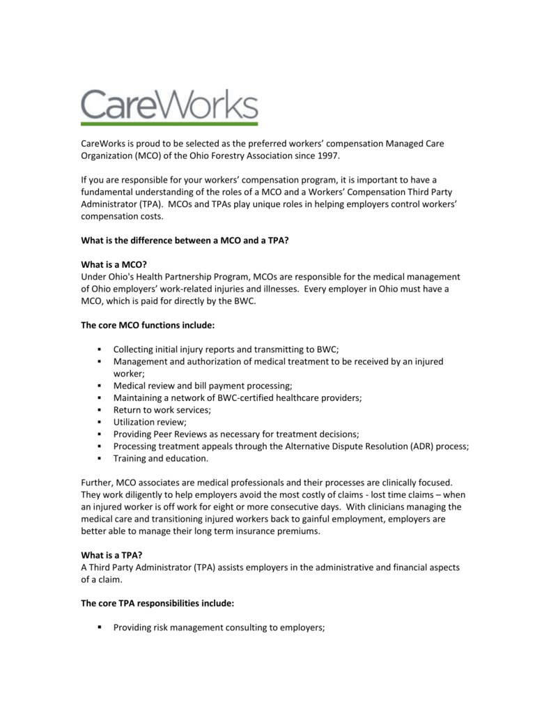 Attached is a letter from CareWorks