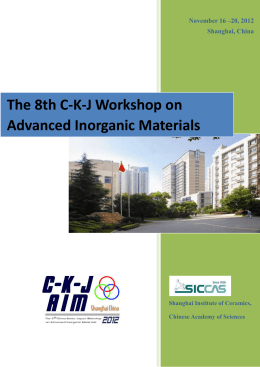 The 8th C-K-J Workshop on Advanced Inorganic Materials