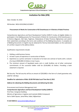 Document - Ministry of Agriculture Irrigation and Livestock