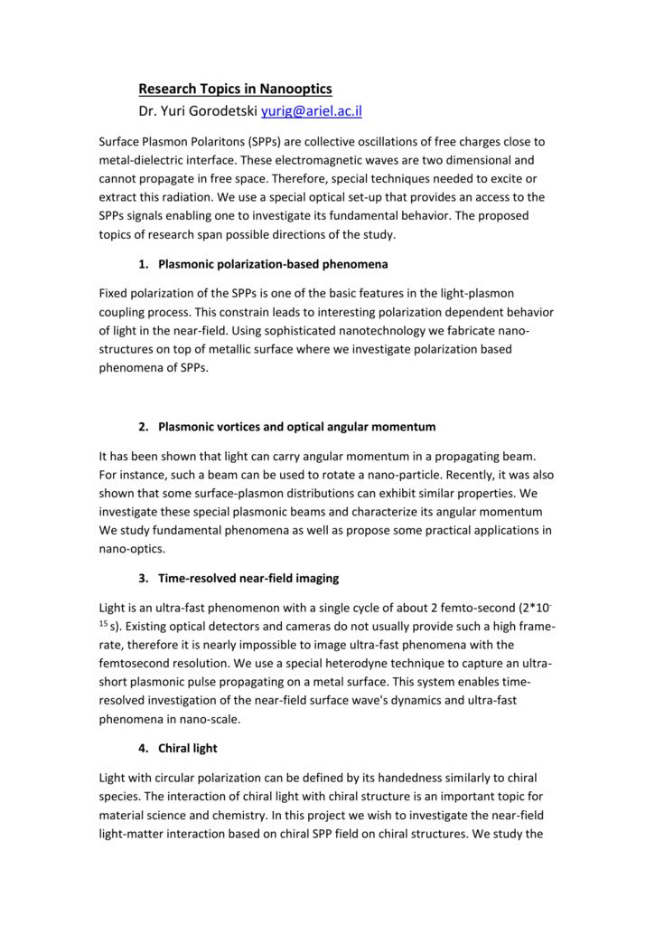 interesting topics to investigate