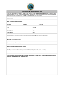 Continuing Medical Education Application Form