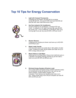 Energy Saving Tips - holomua | site services