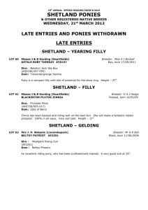 Late list & ponies withdrawn as at 20th March