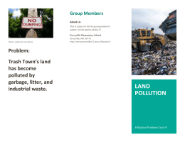Land Pollution Brochure Template