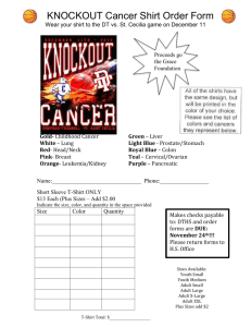 Knockout Cancer Shirt order FORM