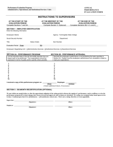 Classified Staff Annual Evaluation Form