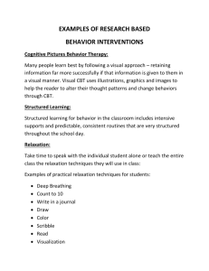 Examples of Research Based Behavior Interventions