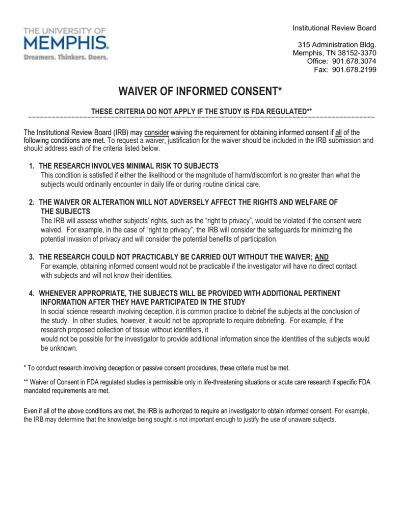 Microsoft Word - T19-Waiver of Informed Consent797 doc