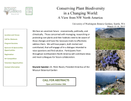 Conserving Plant Bio.. - University of Washington