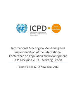International Meeting on Monitoring and Implementation of