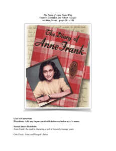 Act One, Scene 1 The Diary of Anne Frank including TDQ
