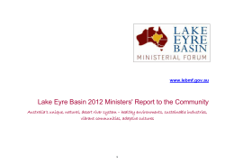 Lake Eyre Basin 2012 Ministers` Report to the Community