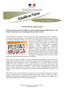 French festivals, a great export Festival of music, Festival of lights