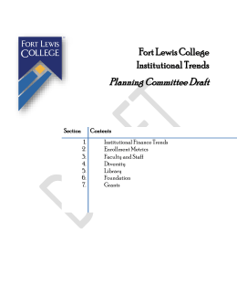 Fort Lewis College Institutional Trends Planning Committee Draft