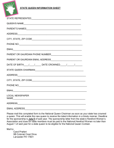State Hereford Queen Information Form