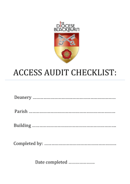 museum sector access audit checklist
