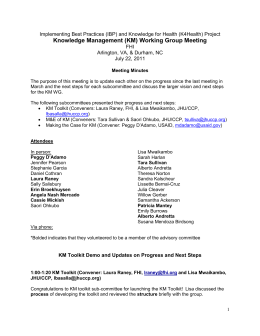 KMWG Meeting Notes July 22_Final