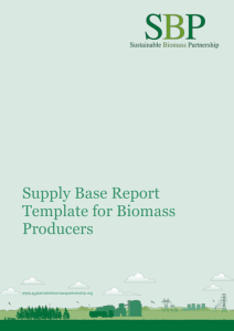Supply Base Report Template for Biomass Producers