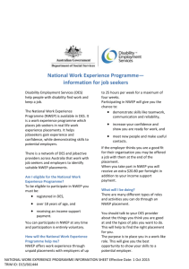 National Work Experience Programme— information for job seekers
