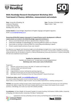 BAAL Routledge workshop flyer - University of Reading Weblogs