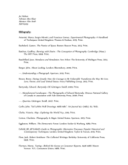 Bibliography SUFA15 (Semester Only)
