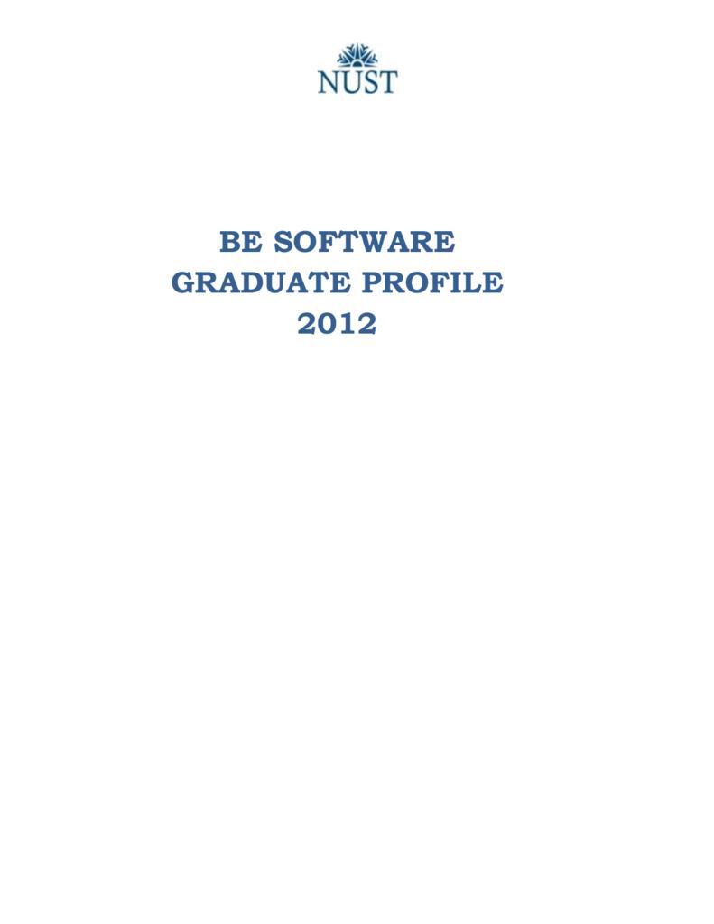be software graduate profile 2012 - National University of