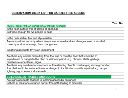 ADAPTED OBSERVATION CHECKLIST FOR BARRIER FREE