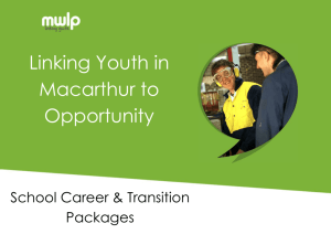 School Career & Transition Packages