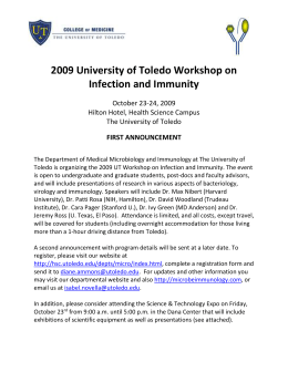 first announcement - University of Toledo