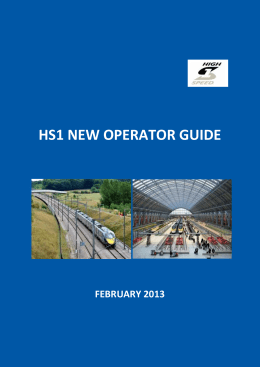 HS1 New Operator Guide