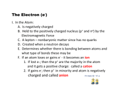Physical Science - Electron Outline