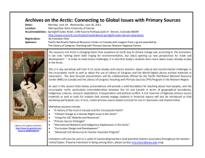 Archives on the Arctic: Connecting to Global - K