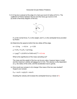 Horizontal Circular Motion