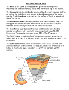 The Interior of the Earth definitions
