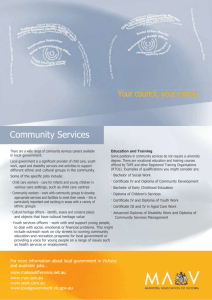 Community services career fact sheet (Word