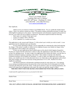 Applicant Letter - Nature Coast Middle School