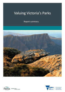 Valuing Victoria`s Parks - Department of Environment, Land, Water