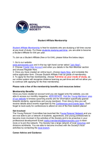Royal Aeronautical Society student affiliate membership (DOCX