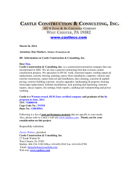Castle Construction & Consulting, Inc - we are a woman