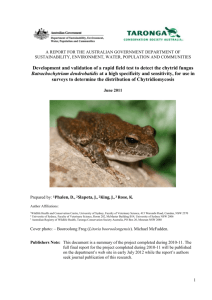 Development and validation of a rapid field test to detect the chytrid