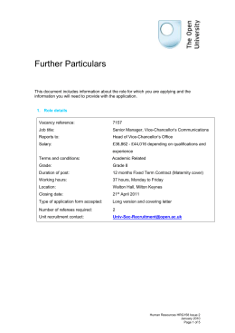 Further Particulars HRG158